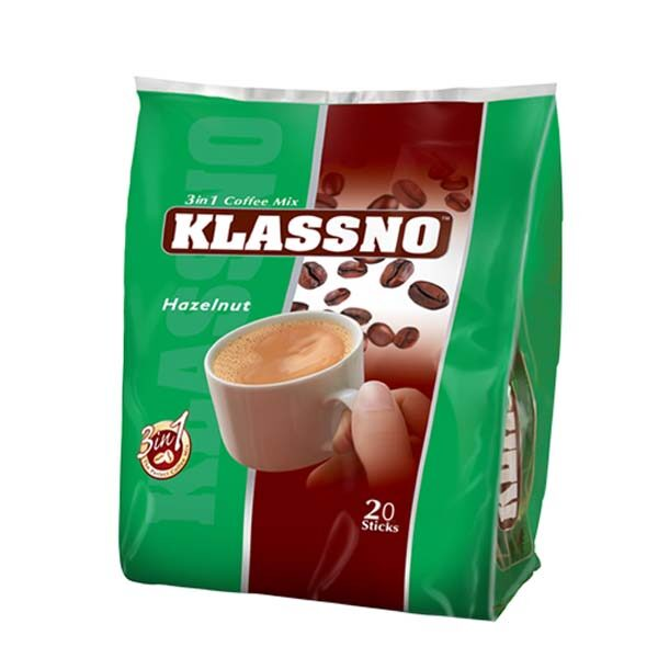 klassno hazelnut 20 sticks copy 600x600 - كافي ميكس Klassno فندقي
