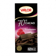VALOR 70 dark chocolate with raspberry 2 185x185 - شکلات Valor تلخ 70% با تمشک