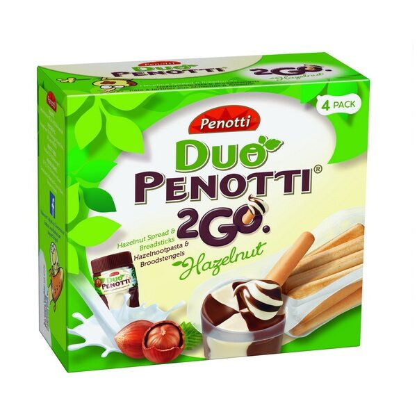 DP2GO 4PACK HAZELNUT 140730 600x600 - شکلات Penotti 2Go